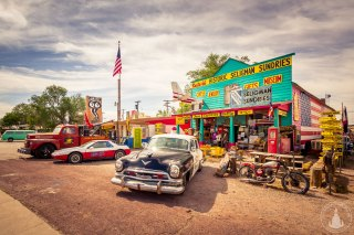 """""""Old Police Car"""" Seligman an der Route 66"""