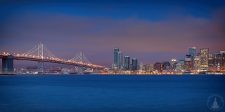 San Francisco Skyline am Abend